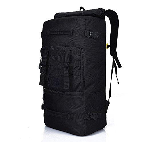 Zmsdt fashion casual outdoor sports borsa da alpinismo borsa da viaggio zaino grande capacità uomini e donne borsa da alpinismo (colore : black)