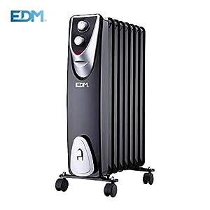 EDM Radiador Black Edition sin Aceite 8 Elementos 500/1.000/1.500w