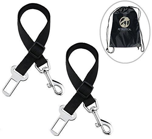Cinturón de seguridad para perro, 2 unidades, ajustable, incluye funda para asiento...