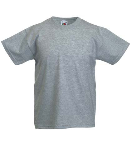Fruite of the Loom Kinder T-Shirt, vers. Farben 164,Graumeliert