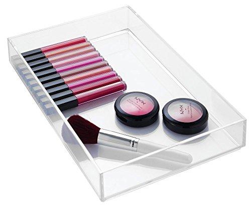mDesign Kosmetik Organizer durchsichtig – die ideale Aufbewahrungsbox für Lippenstifte, Nagellack, Lidschatten etc. – perfekt zur Schminkaufbewahrung – stapelbar