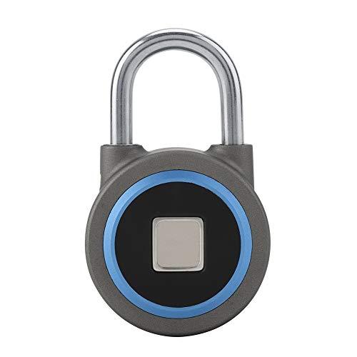 FTVOGUE Fingerprint Vorhängeschloss Keyless Anti-Diebstahl Smart Lock Rechargable Handy Bluetooth APP für Rucksäcke Gym Bike Office