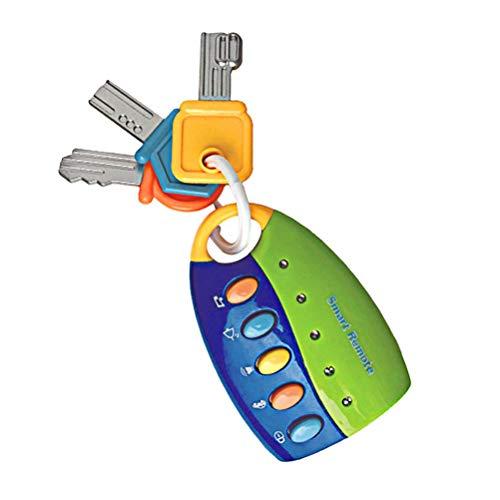 Neborn Baby Spielzeug Musical Auto Key Gesang Smart Remote-Auto Stimmen Pretend Spielen Pädagogisches Spielzeug Für Kinder Baby Musik Spielzeug (Blau + Grün)