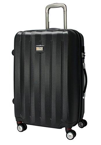 QTC DENVER 2 Hartschalen Reisekoffer L / 67cm / Handgepäck Reisetasche Reise Koffer (Schwarz)