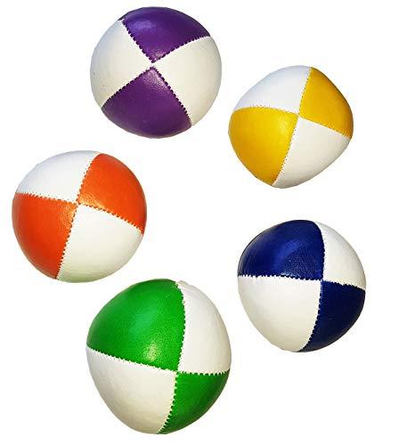 Passe Passe Set de 5 Balle Flash Bicolor 130g 67mm Blanc + Couleurs différent