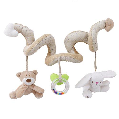 VWH Weiches Reizendes Musical Rattle Spielzeug Bär Kaninchen-Plüsch-Spielzeug für Kleinkind Spaziergänger Kinderwagen Feldbett Bett hängend