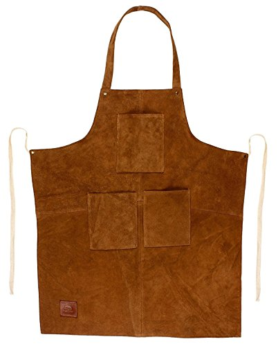 Rustic Town Leder Grillschürze Schweißerschürze für männer - Schürze Kochschürze Küchenschürze Arbeitsschürze