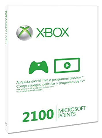 MICROSOFT XBOX 360 LIVE 2100 POINTS CARD 56P00209