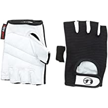 Ultrasport Grip - Guantes de fitness y training unisex, color blanco / negro, talla S