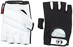 Ultrasport Fitness- und Trainingshandschuh Grip aus Ziegenleder, Crust White/Black, L, 33954-100-L