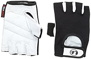 Ultrasport Fitness and Training Gloves with Goatskin Grip Crust White / Black Crust White/Black Size:S
