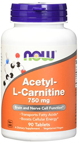 Acethyl-l-carnitine 750 mg - 90 comprimes - Now foods
