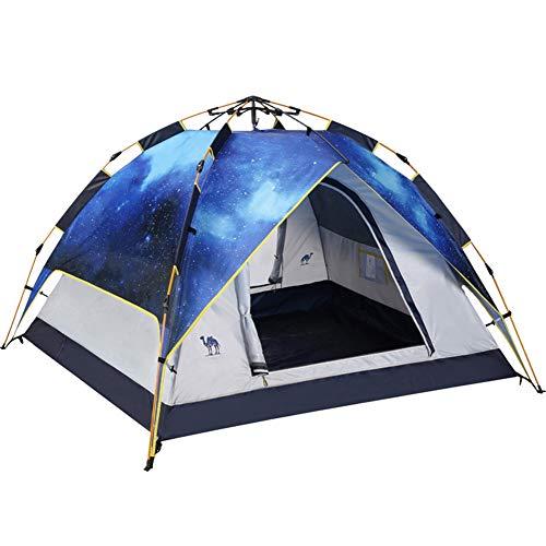 Essendia Outdoor Starry Camping Tunnelzelte - Shelter, vollautomatisches verdicktes Regenschutz-Doppelzelt, schnelle Installation, Uv-Schutz-Reise-Camping, Wandern