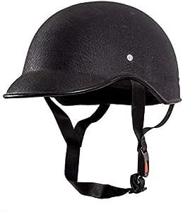 SARTE SBA-1 All Purpose Safety Helmet/Half Helmet with Strap for Bikes (Black, Free Size)