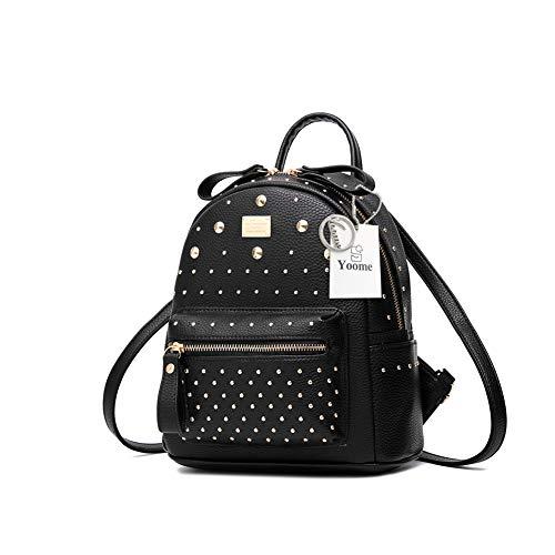 Yoome Mini in pelle borsa zaino per le donne ragazze sveglie Rivetti Daypack sacchetto di scuola