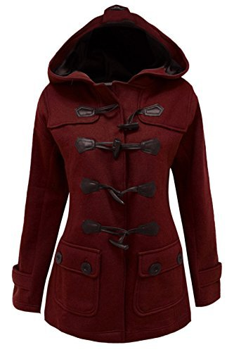 cexi COUTURE FEMMES POLAIRE HIVER CAPUCHE bascule VESTE FEMMES duffle coat - Bordeaux, 46