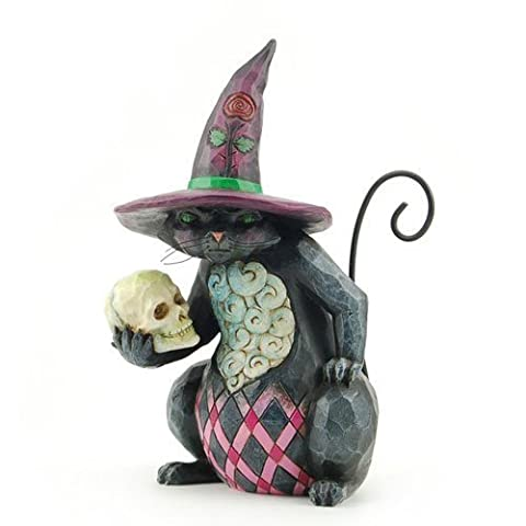 Enesco 4027796 Jim Shore Heartwood Creek Pint Sized Halloween Cat Figurine, 5-1/4-Inch by (Halloween Jim Shore)