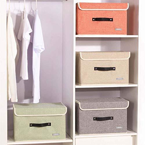 Homieco Stoff Faltbare Aufbewahrungsboxen Organizer Kleidung Truhe Multifunktions stapelbar Cube Box für Garderobe, S/Green (Schubladen Kunststoff-speicher-cubes)