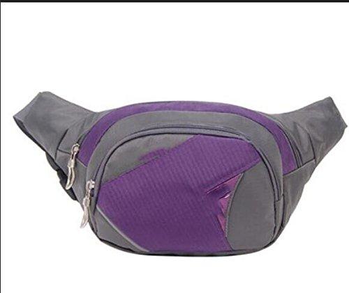 ZYT Sporttasche Tasche Herren Wandern im freien Mehrzweck-Portemonnaie Handy Purple