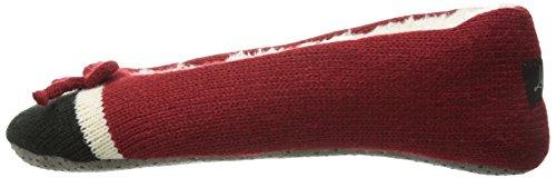 Life is Good Damen Hausschuhe Cozy Ballett (Urlaub rot) Holiday Red