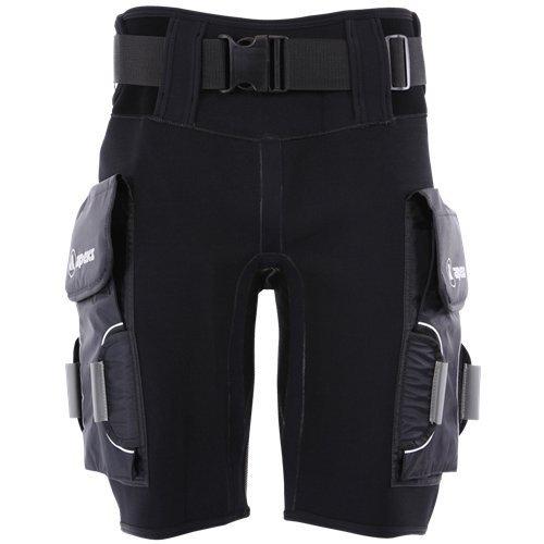 APEKS von Aqua Lung Tech Shorts mit Pocket, unisex Herren damen, schwarz (Scubapro-ausrüstung)