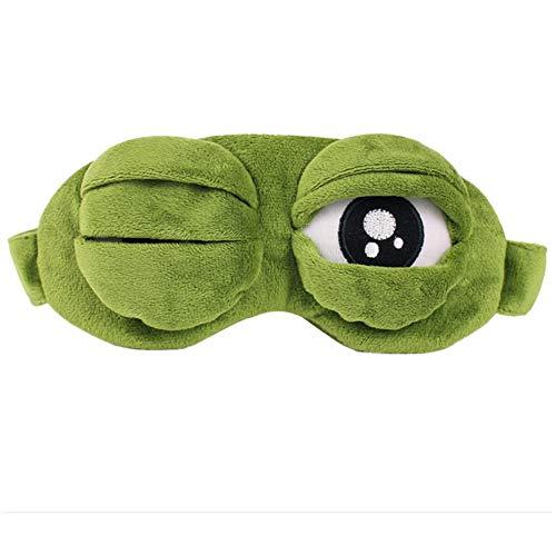 OFKPO Antifaz para Dormir Máscara de Ojo de Rana de Dibujos Animados