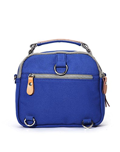 Eshow shoulder bag cross body bag Messenger Bag Briefcase Casual Canvas for Women/Men Blau