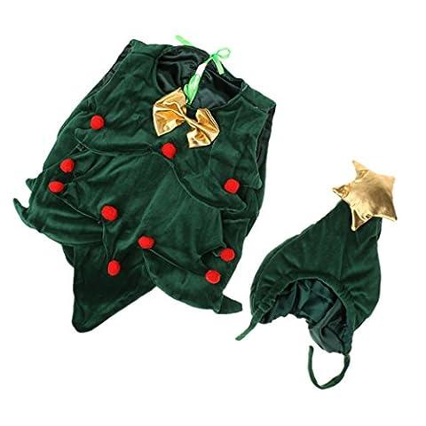 Nouveau-né Costume Arbre de Noël Fantaisie Vêtements Cosplay Photographie Bébé