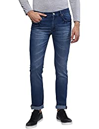 Urbano Fashion Men's Dark Blue Stretchable Slim Fit Jeans