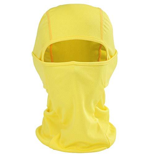 BBring Multifunktionen Gesichtsmaske Gesichtschutz Maske Warm Fahrrad Ski Snowboard Sport für Herren und Damen (Gelb) -