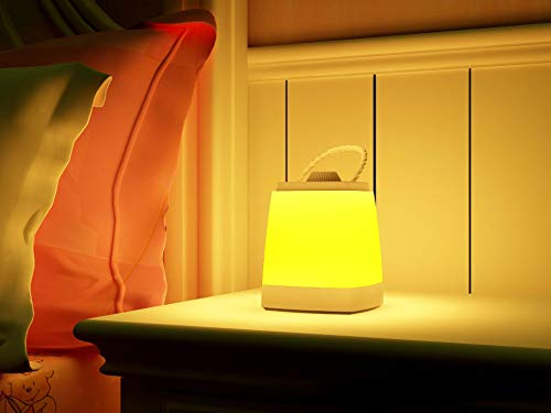 Nachttischlampe, wiederaufladbare Tischlampe, dimmbares warmes Licht, kabellos batteriebetrieben mit 1200mAh Akku Merkfunktion EIN-Griff tragbar -