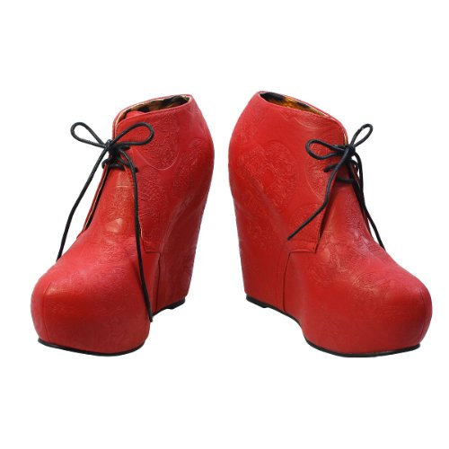 Iron Fist Tigre & Bunny Wedge Schuhe Rot