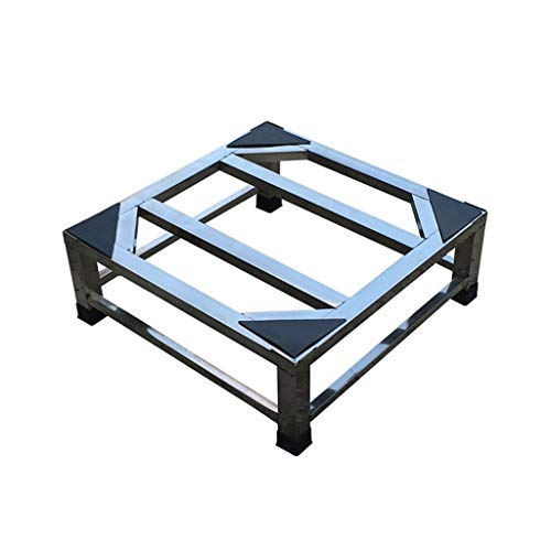 YSNUK Erhöhen der Edelstahl-Waschmaschinenhalterung/Trommelwaschmaschine Stoßfeste Basis Universal-Wäschetrockner (Size : 45×45×15cm) -