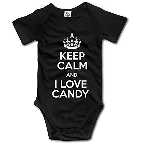 Clothes Set I Love Candy Bodysuits Romper Short Sleeved Light Onesies,0-3M ()