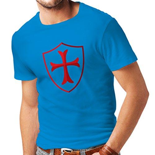 Männer T-Shirt Die Ritter - Templar Schild christlichen Ritter Ordnung (XX-Large Blau ()