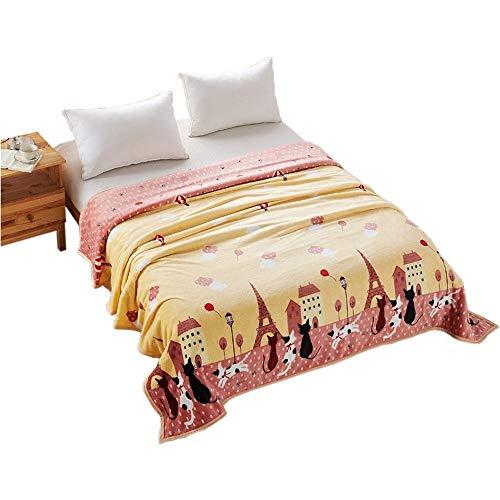 FUWUX Sommer-Korallen-Fleece-Decke Dicke Flanell-Blätter Einzelstück-Schlafsaal-Decke einzelne Doppel-Nickerchen-Decke