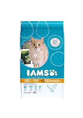 Iams Cat Food Adult Light Savoury Roast Chicken 2.55kg 2550g