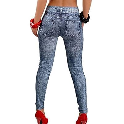 Tonsee Billig Jeans Schnee Hose gemusterten Leggings neun gefälschte Jeans Frauen Schnee Jeggings Moda Fitness Feminina billige Kleidung