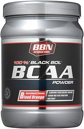 BBN Hardcore BCAA Black Bol Powder, 450 g Dose, Blood orange