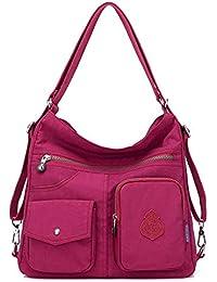 3321992ff Outreo Mujer Bolsos de Moda Impermeable Mochilas Bolsas de Viaje Bolso  Bandolera Sport Messenger Bag Bolsos Baratos Mano para Tablet Escolares…