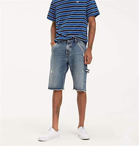 Tommy Jeans DM0DM06157 Carpenter Short AMR Bermudas UND Shorts Herren Denim MEDIUM Blue 36 Carpenter Denim Blue Jeans