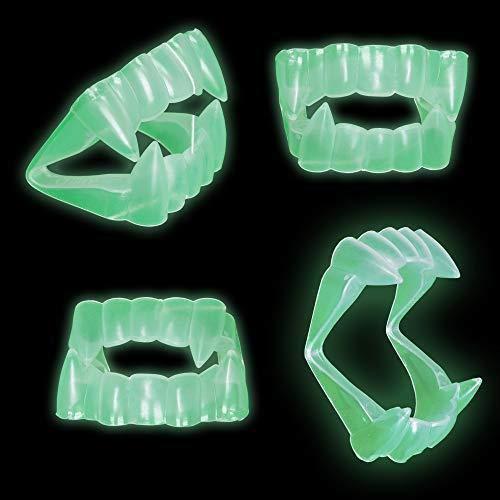 Delaman Glühende Vampirzähne Halloween Vampirzähne Zähne, Glühen im Dunkeln Dracula Zähne, Kostümparty Gefälligkeiten (Color : ()