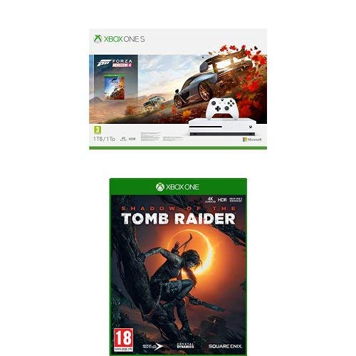 Xbox One S 1TB + Forza Horizon 4 + 14gg Xbox Live Gold + 1 Mese Gamepass [Bundle] + Shadow of the Tomb Raider