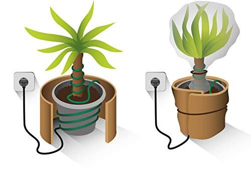 Romberg Pflanzenheizung L (10 Meter, Frostschutz für Kübelpflanzen oder Wurzeln und Pflanzentrieben, 40 Watt) 10295105, schwarz