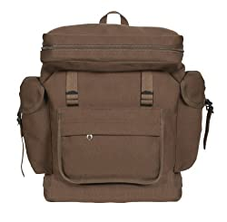 Rothco Canvas European Rucksack, Earth Brown,One Size
