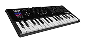 M-Audio Axiom AIR Mini 32 Ultra-Portable 32 Key USB MIDI Keyboard Controller with 8 Trigger Pads and a Full-Consignment of Production/Performance Ready Controls, VIP 3.0 and  Software Package Included