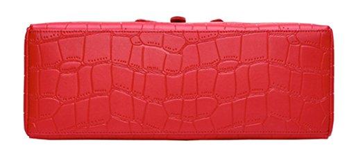 SAIERLONG Donne Designer Donna Vino rosso Vera Pelle Borse Tracolle Vino rosso