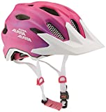 Alpina Kinder Carapax Jr. Flash Endurohelm, Pink/White, 51-56 cm