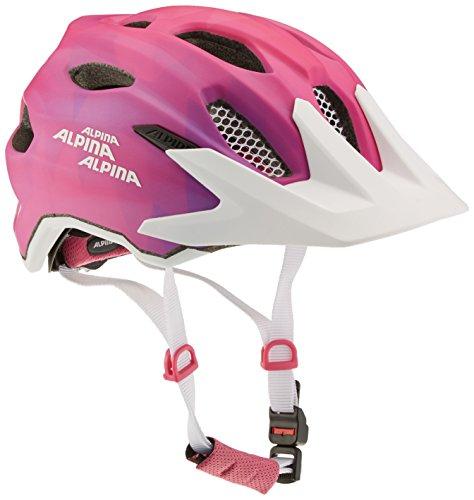 Alpina Mädchen Carapax Flash Fahrradhelm, pink/White, 51-56 cm