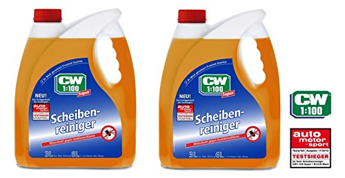 PRAKTISCHES SET 2 x 3 L CW1:100 Dr WACK PREMIUM SCHEIBENREINIGER Scheiben Reiniger Super Fertiggemisch für Scheibenwaschanlagen / Scheinwerfer-Reinigungsanlage